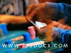 Playing Poker at the Casino Photo Image