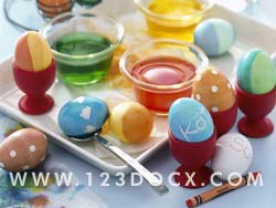 Decorating Easter Eggs Photo Image