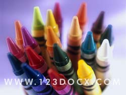 Childrens Crayons Photo Image
