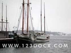 Anchored Sail Boats Photo Image