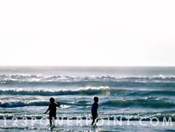 Kids At The Beach Photo Image