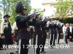 Buglers in Band Photo Image
