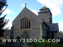 Church and Churchyard Photo Image
