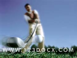 Golf Tee-Off Drive Photo Image