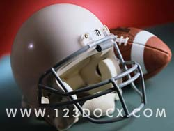 Football Helmet & Ball Photo Image