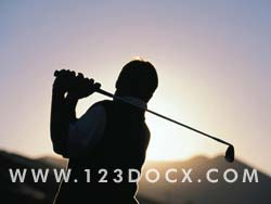 Golf Round at Sunset Photo Image