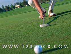 Golf Putt Photo Image