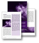 The monkey business word template in purple shows a young oranutang ape hanging across the slide and is perfect for any business practice, corporate report, animal conservation, animal zoo, primate, monkey, chimpanzee, oranutang, or monkey business document, publication, or presentation.