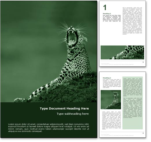Wild Cats Conservation word template document