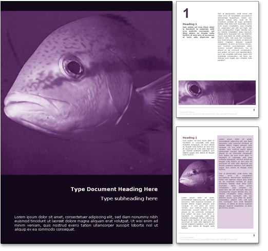 Big Fish word template document