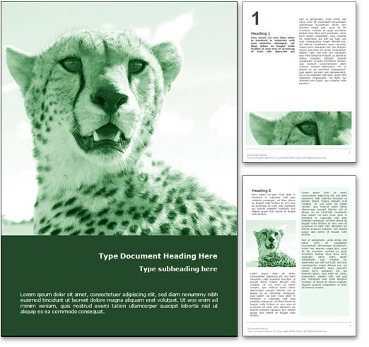 Cheetah word template document