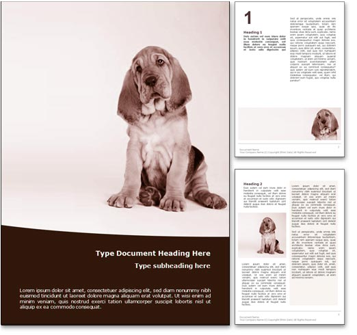 Hound Dog word template document