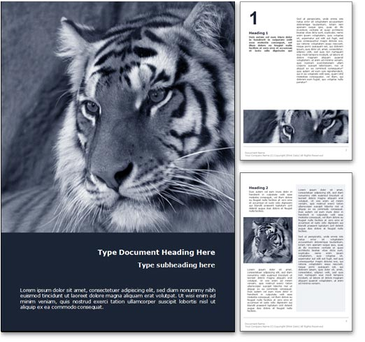 Tiger word template document