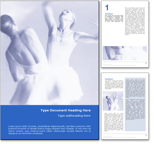 Ballet Dance word template document