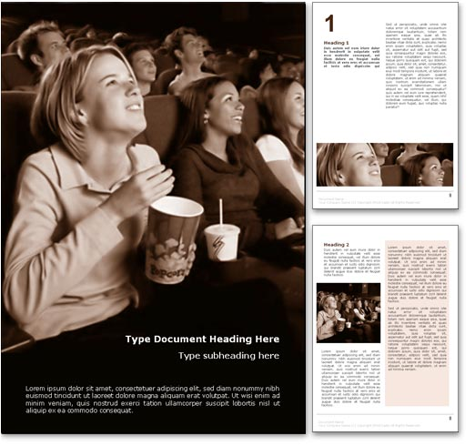 Cinema Movie Audience word template document