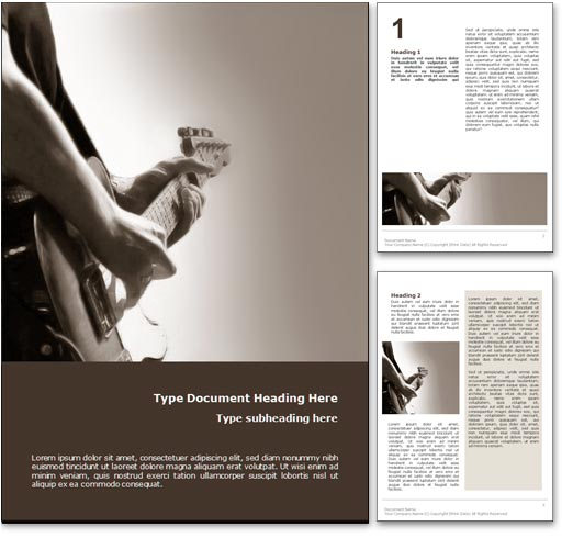 Playing Guitar word template document