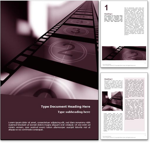 Movie word template document