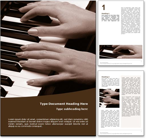 Classical Music word template document