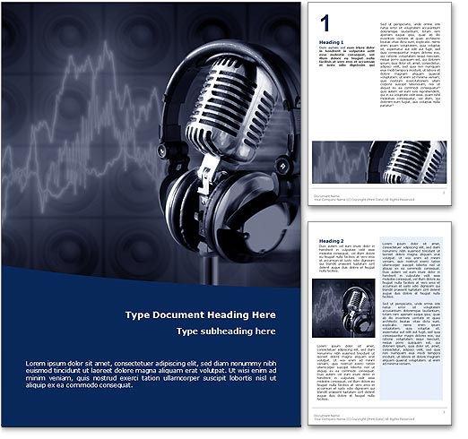 Music Studio word template document
