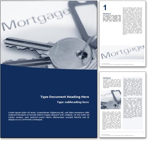 Mortgage word template document
