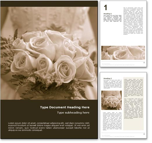Wedding Bride word template document