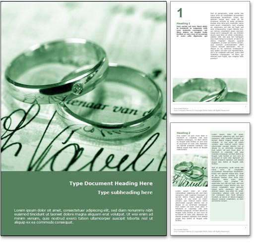 Wedding Rings word template document