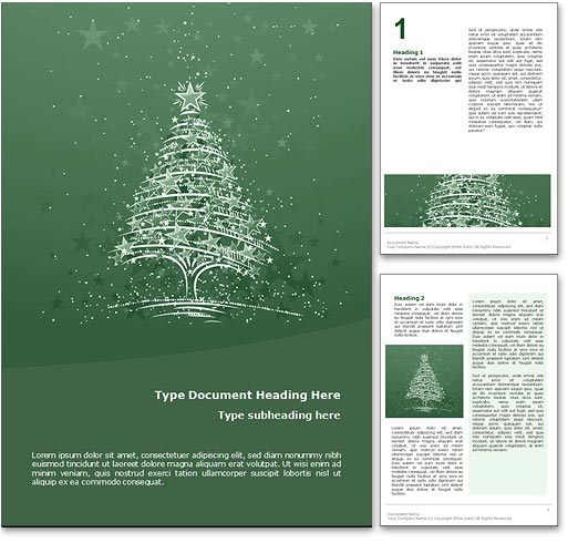 Christmas word template document