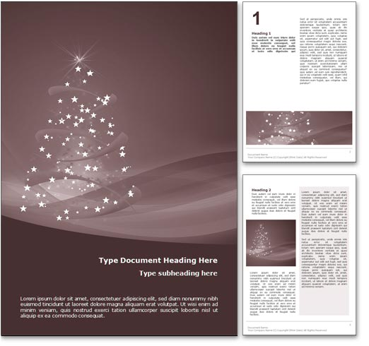Happy Holidays word template document