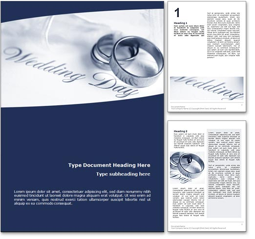 Wedding word template document