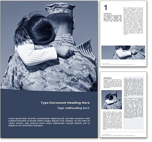 Veterans Day word template document