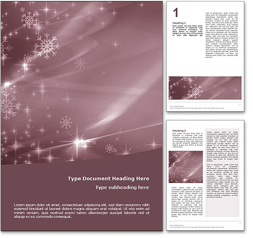 Merry Christmas word template document