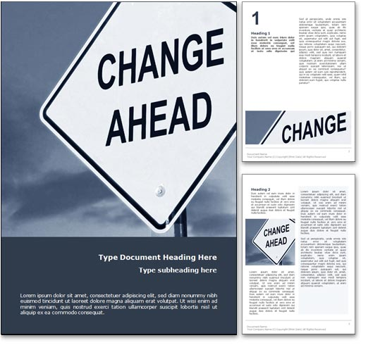 Change Management word template document