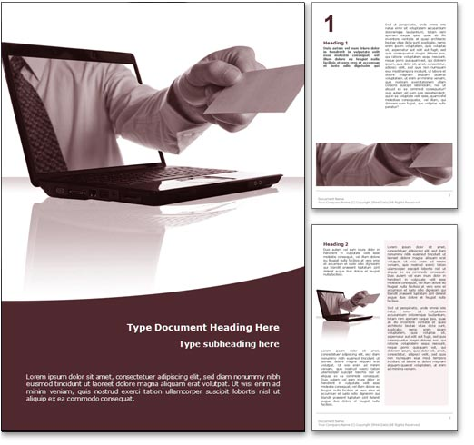 Online Business word template document