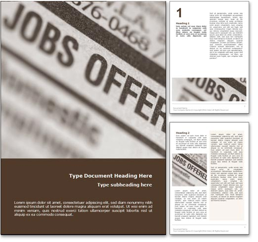 Unemployment word template document