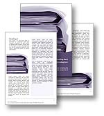 The Document Management Word Template design in purple shows several folders of documents, files and records. The Document Management Microsoft Word Template is the perfect Word Template design for any medical reports, management review, document management system, document imaging publication, corporate infrastructure newsletter, back office support or document management brochure.