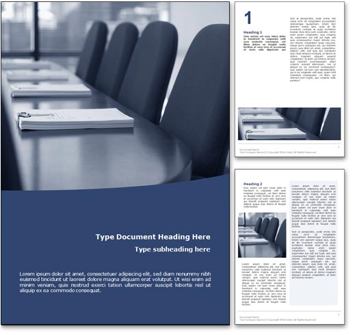 Boardroom word template document