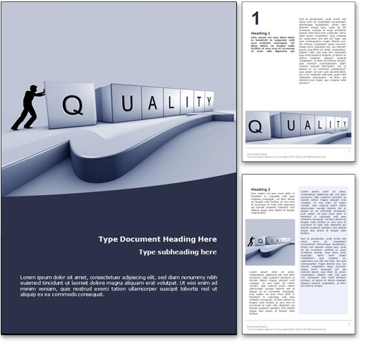 Quality word template document