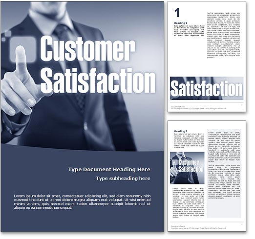 Customer Satisfaction word template document