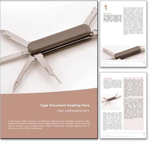Swiss Army Knife word template document
