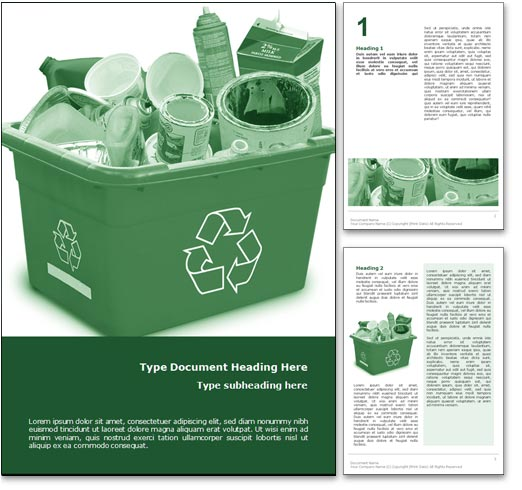 Recycle word template document