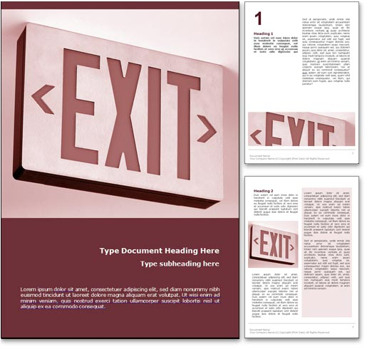 Exit word template document