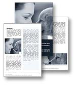 The Friendship Word Template in blue shows a young girl affectionately resting her nose on the nose of her puppy in devotion to the love of her pet dog. The Friendship Microsoft Word Template is the perfect Word Template design for any household pets, dog review, puppy brochure, domestic animals journal, pet newletter, animal shelter report, animal cruelty publication or friendship document.