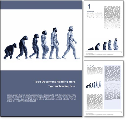 Evolution word template document