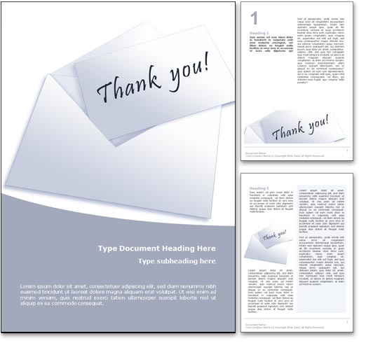 Thank You word template document