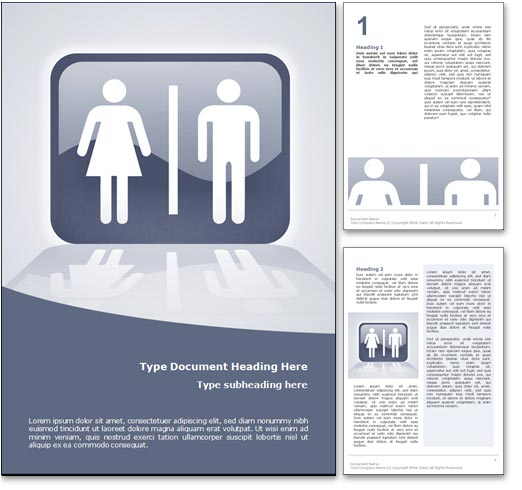 Toilet word template document