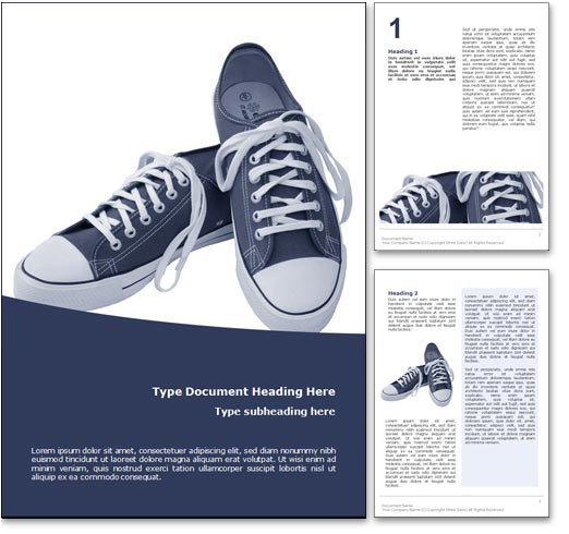 Sneakers word template document