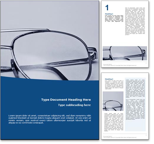 Glasses word template document