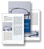 The Glasses Word Template in blue shows a pair of glasses also know as spectacles, reading glasses, optical lenses, eye glasses or specs. The Glasses Word Template design is the perfect Word document template for any perscription glasses, short sighted, long sighted, corrective vision, reading glasses, spectacles brochure, eye test review, optician document, optometrist publication or ophthalmologist report.