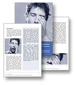 The Tired Word Template in blue shows a tired man yawning and trying to stay awake. The Tired Microsoft Word Template is the perfect MS Word Template for any boredom journal, exhausted review, headache report, fatique document, lethargy paper, sleep invitation, depression brochure and chronic fatigue publication.