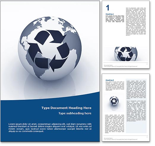 Recycling word template document